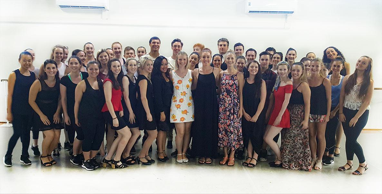 Apo Arts Academy Students with Jemma RixOz